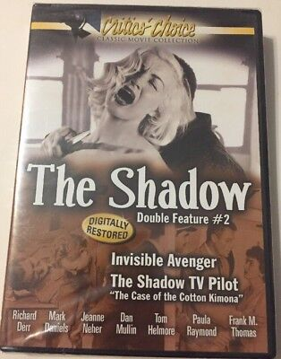 The Shadow Double Feature  2 Dvd  2007   Invisible Avenger   The Shadow Tv Pilot