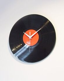 "upcycled 12"" record LP clock. Great gift idea."