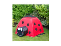 Brand new large ladybird play tent outdoors