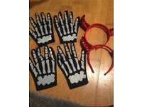 Halloween gloves and hair bands