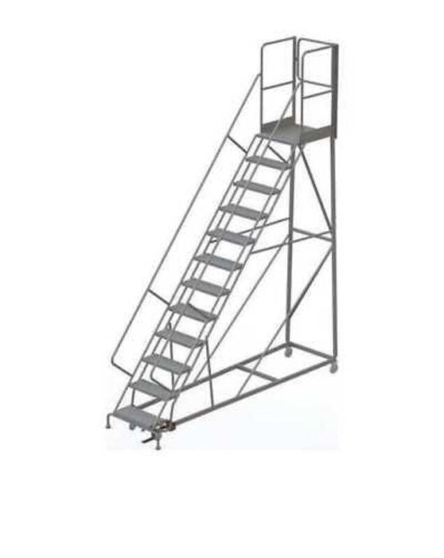 Industrial 12 Step Rolling Ladder
