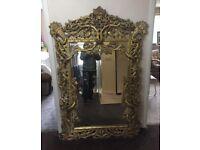 Large antique replica mirror