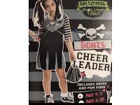 Girls Halloween Bones 5-7 years costume
