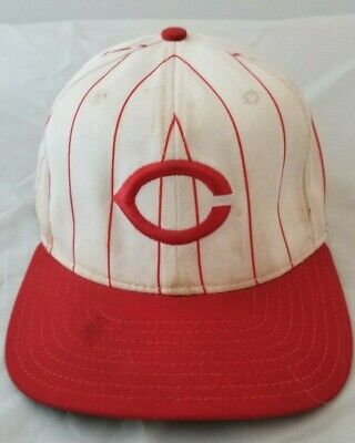 30b3bc8bf71d2 Bret Boone Autographed  90 s Reds Game-Used Cap