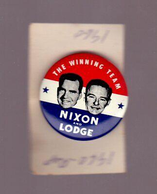 RICHARD NIXON 1968 FOLDOVER PIN VINTAGE ORIGINAL .8 INCH GREAT SHAPE