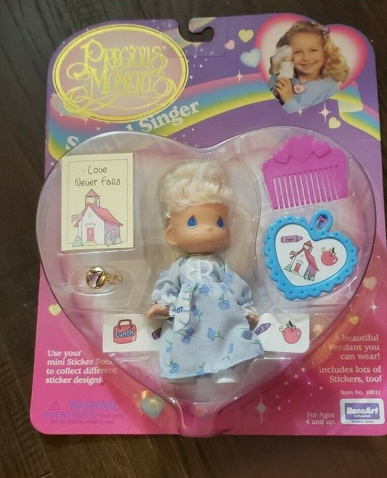 Precious Moments Special Singer Rose Art 1996 NEW Doll Figure Love Never Fails - $10.99