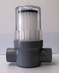 Swimming pool or spa solar heating inline cartridge filter for Pool heater and filter