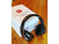 beats by dr. dre headphones - studio 1.0, immaculate condition, rare titanium gloss finish
