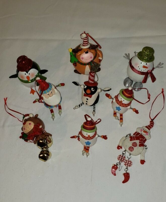 Christmas Ornament Lot 9 Pieces