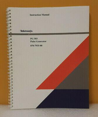 Tektronix 070-7935-00 Pg 503 Pulse Generator Instruction Manual
