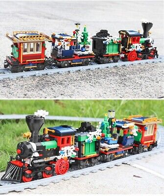 Creator Winter Holiday Train Compatible With Lego 10254 Building Block Set