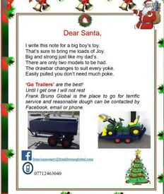 Trailer to suit go cart tractor or quad ideal Christmas present