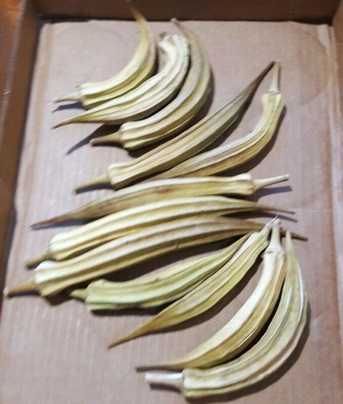 50 Natural Dried Okra Pods organically grown great for arts and crafts,floral