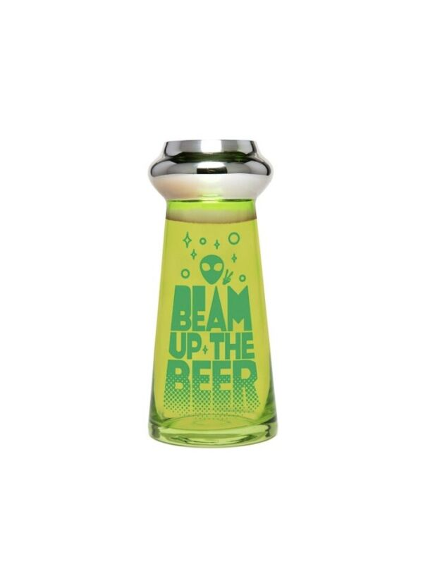 🛸👽Alien Spaceship Glass Beer Cup👽🛸