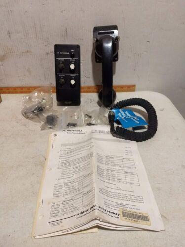 Motorola Maratrac auxiliary handset, cradle, rear control head vintage NOS