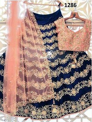Bollywood Ethnic Designer Saree Party Wear Women lehenga Indian Pakistani Sari