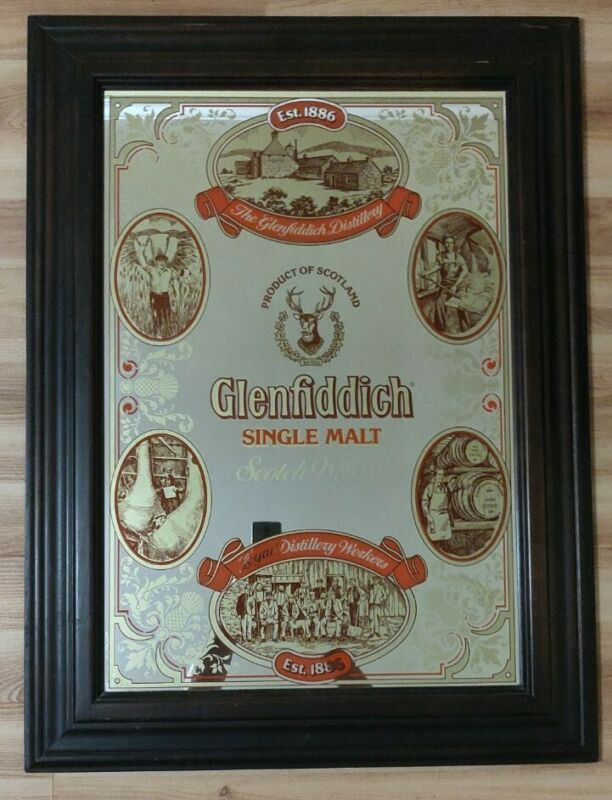 Glenfiddich Single Malt Scotch Whiskey Large Mirror Sign