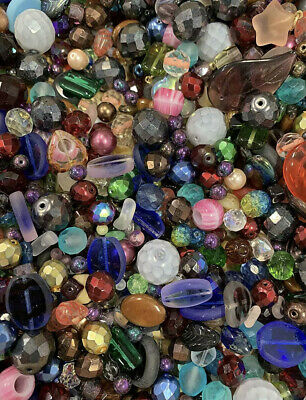 50pcs Assorted Glass Loose Beads Bulk Mixed Lot Craft Jewelry DIY Making
