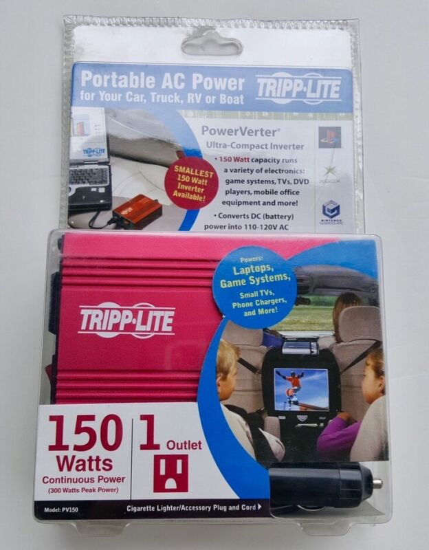 Tripp Lite 150W PowerVerter Ultra-Compact Car Inverter: Model #PV150