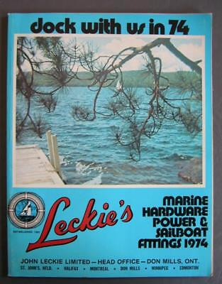 Original 1974 Leckie's Marine Hardware Power & Sailboat Fitting Catalog w/Prices