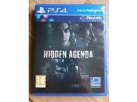 PS4 GAME HIDDEN AGENDA