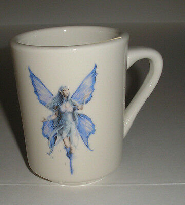 Beautiful Blue Flying Fairy  Ceramic Coffee Hot Chocolate Mug New