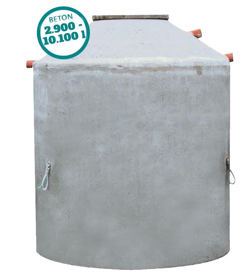 Betonzisterne 2900 - 10100 Liter, Monolith, mit begehbarer Abdeckung, Hydrophant