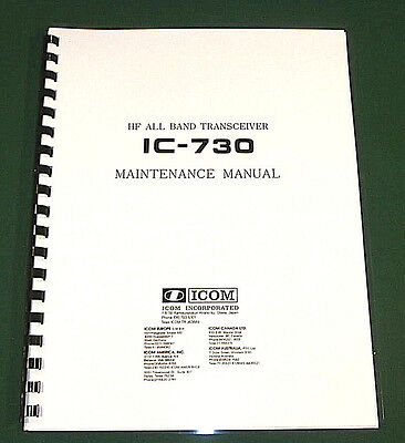 """Icom IC-730 Service Manual: with 11"""" X 26"""" Foldout schematics! for sale  Shipping to Canada"""