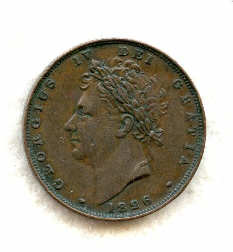 GREAT BRITAIN ~ 1826 ~ 1 FARTHING ~ XF
