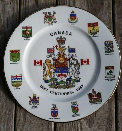 "Canada Centennial 1867 - 1967 10 1/2""  Plate Provincial Shields Western Germany"