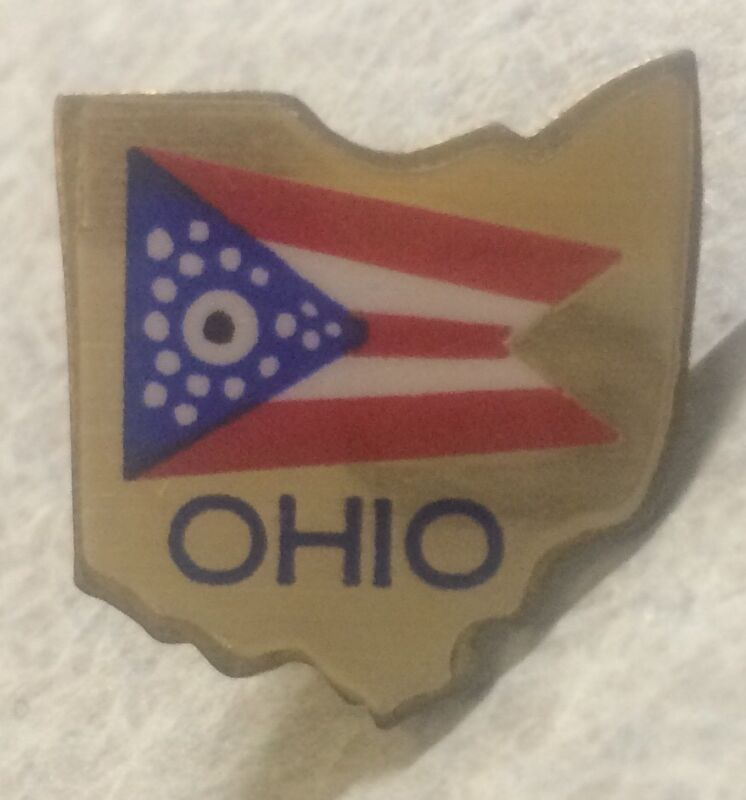 OHIO State Flag Lapel Hat Pin    [G]