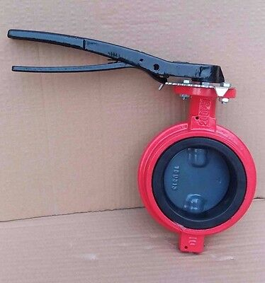 10 Inch Butterfly Valve Wafer Ductile Iron Body Nylon Disc Buna-n Seat 416 Stem