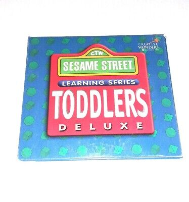 1995 Sesame Street Learning Series Toddlers Deluxe 3 CD Set PC Software VGUC