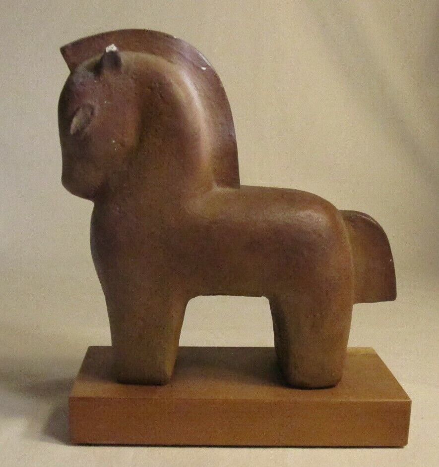 Primitive Pre Columbian style horse figurine, brown ...