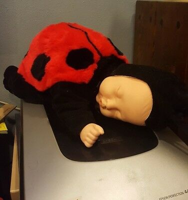 Anne Geddes Ladybug Baby Doll 15 Inches long Bean Bag stuffing , used for sale  Doylestown