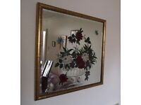 1920s-Art-Deco-Shabby-Chic-Wall-Mirror-Floral-Etched-STUNNING-in-real-life