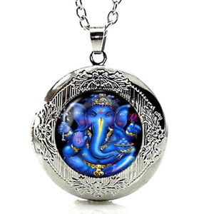 Ganesh pendant ebay lord ganesh ganesha locket pendant necklace with a gift box fast shiping aloadofball Image collections