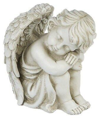 Eden Engel  Deko Figur sitzend schlafend Engelsfigur Fantasy Statue Wohndeko