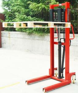 Manual Walkie Stacker Hand Truck Forklift Reach Pallet 2200LB 63inch 153005