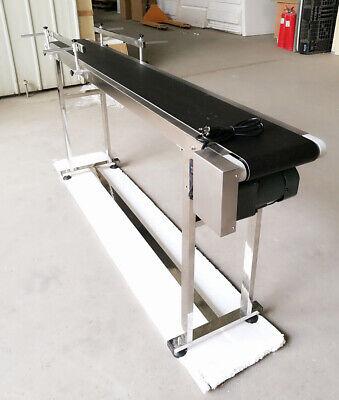 Stainless Steel 5.9x7.8 Inline Conveyor With Pvc Table Top Belt Flat Conveyor