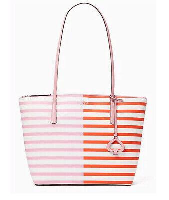 🌺🌹NWT Kate Spade Zina Large Striped Tote Handbag satchel shoulder bag laptop