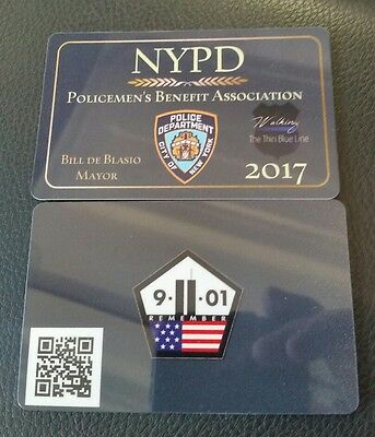 OFFICIAL NYPD CARD BLUE LIVES MATTER PBA NYC CARD SHOW YOUR SUPPORT DEA SBA FBI