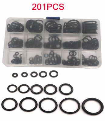 201PCS Universal Rubber O-ring Sealing Gasket Repair Parts 15 Sizes with Box Set