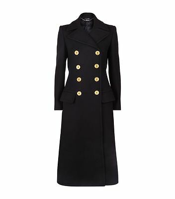 ALEXANDER MCQUEEN WOMEN HEAVY WOOL DOUBLE BREASTED COAT FREE SHIPPING