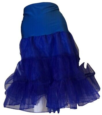 80s Dresses | Casual to Party Dresses Vintage 1980's Electric Blue Tulle Layered Petticoat $26.21 AT vintagedancer.com