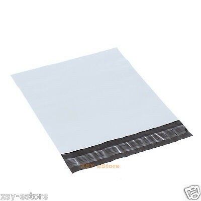 5 White Plastic Envelopes Mailers Poly Mailing Bags 7.5