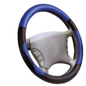 Steering wheel cover, blue,red universal size 37-39 cm