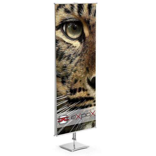 "Double sided  Banner Stand adjustable 23.5"" wide 63"" tall"