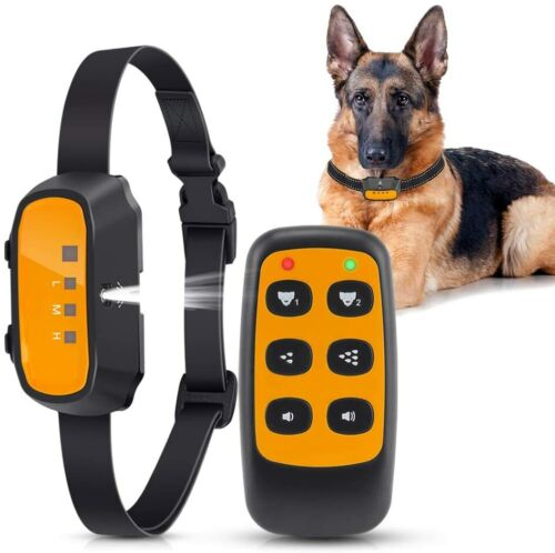 Queenmew dog training bark citronella spray collar w remote