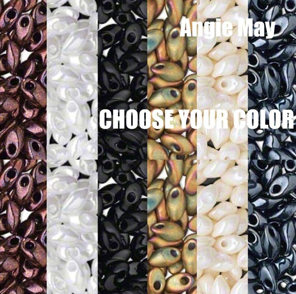 50 Grams Opaque Miyuki 7mm Long Magatama Glass Seed Beads - Pick Your Color